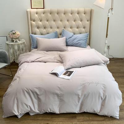 2019新款-60磨毛四件套(磨毛实拍) 床单款1.8m(6英尺)床 迷雾灰