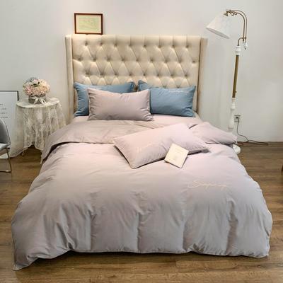 2019新款-60磨毛四件套(磨毛实拍) 床单款1.8m(6英尺)床 奶茶色