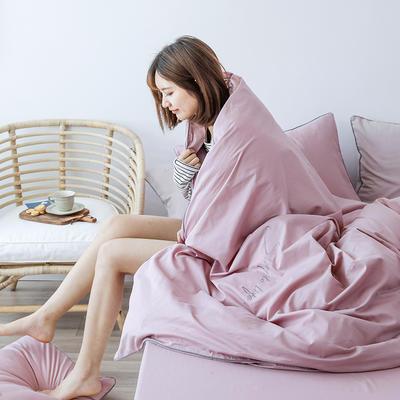 2019新款-60磨毛四件套(模特图) 床单款1.8m(6英尺)床 香芋紫