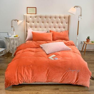 2019新款-简绒系列四件套(实拍图) 床单款1.8m(6英尺)床 简绒-暖橙