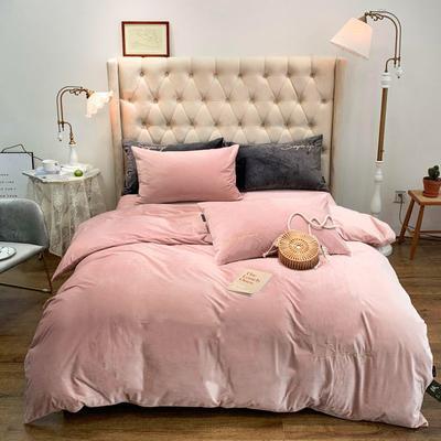 2019新款-简绒系列四件套(实拍图) 床单款1.8m(6英尺)床 简绒-浅粉