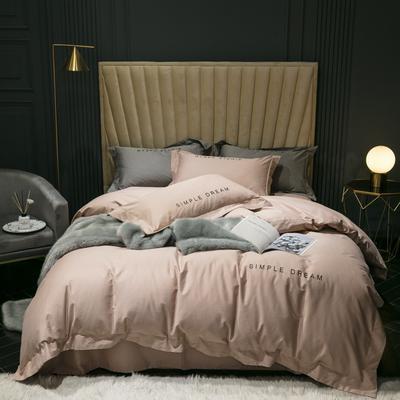 2019新款-100s澳棉轻磨毛四件套 床单款1.8m(6英尺)床 德鲁纳-琥珀色