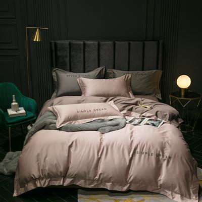 2019新款-100s澳棉双拼四件套 床单款1.8m(6英尺)床 琥珀色-摩卡