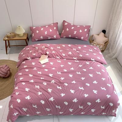 2020新款-全棉针织棉印花四件套 床单款1.5m(5英尺)床 贵宾犬