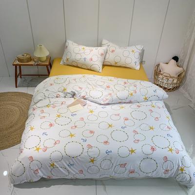 2020新款-全棉针织棉印花四件套 床单款1.5m(5英尺)床 海星