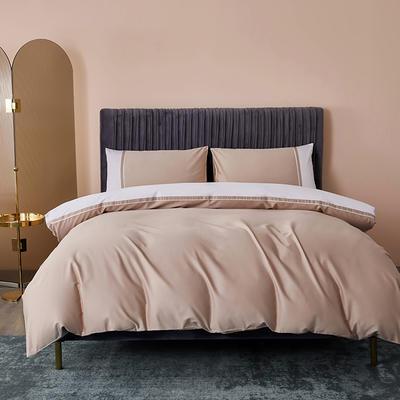 2020新款-60贡缎长绒棉四件套巴塞罗那 床单款四件套1.5m(5英尺)床 丽莎金
