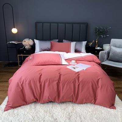 2020新款-60贡缎长绒棉四件套巴塞罗那实拍图 床单款四件套1.5m(5英尺)床 裸豆沙
