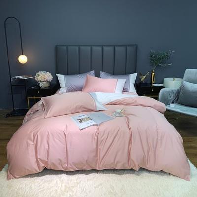 2020新款-60贡缎长绒棉四件套巴塞罗那实拍图 床单款四件套1.5m(5英尺)床 奶油粉