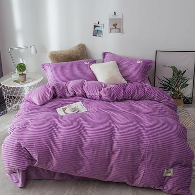 2019新款-魔法绒四件套 床单款1.8m(6英尺)床 紫