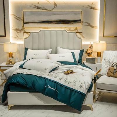 2019新款-60长绒棉四件套-薰衣草 床单款1.8m(6英尺)床 珍珠白