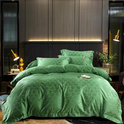 2020新款-100支澳棉提花刺绣款-梦幻宇宙棚拍图 1.5m床单款四件套 翡翠绿