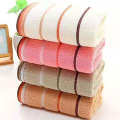 四段套巾 毛巾澡巾浴巾三件套 粉色 34*74cm