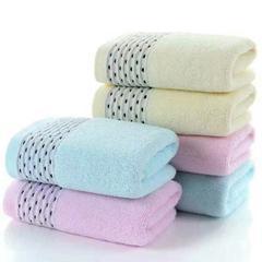 断档提花纯棉毛巾黑色丝带超强吸水亲肤 厂家直销 粉色 35*75cm
