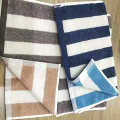 新款-长条股毛巾 灰色34*72