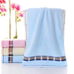 2019新款 宽一条毛巾(34*76) 蓝色