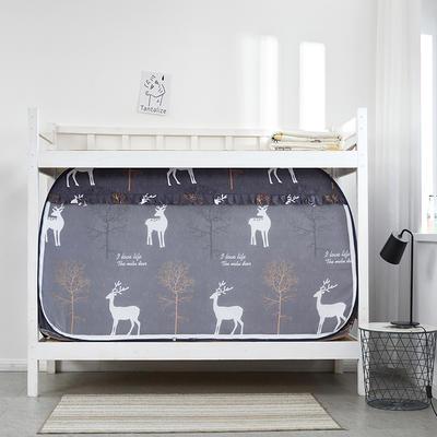 2019新款上下铺一体通用式式免安装蚊帐 80*190*100cm 圣诞鹿(白天款)