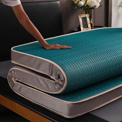 2019新款凉感丝乳胶立体床垫 1.0*2.0 墨绿(6cm)