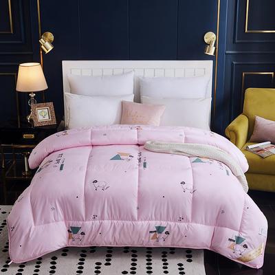 2019新款羊毛被冬季保暖被 150x200cm4斤 粉色
