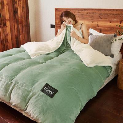 2019新款2019新款多功能可拆洗被子被套毯A版金貂绒B版贝贝绒 150x200cm单被套 草绿