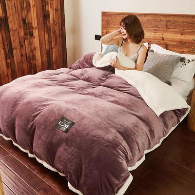 2019新款2019新款多功能可拆洗被子被套毯A版金貂绒B版贝贝绒 150x200cm单被套 深紫