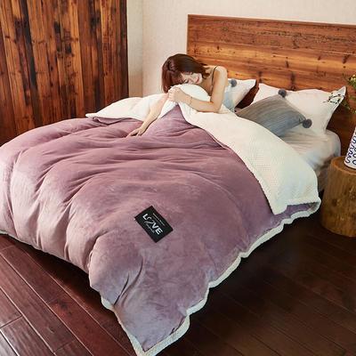 2019新款2019新款多功能可拆洗被子被套毯A版金貂绒B版贝贝绒 150x200cm单被套 薰衣紫