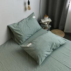 2019新品全棉水洗棉单品枕套 48cmX74cm/对 草绿