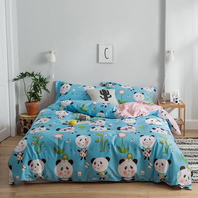 2019新款减龄卡通系列13372全棉四件套 1.2m床单款三件套 熊猫奇奇