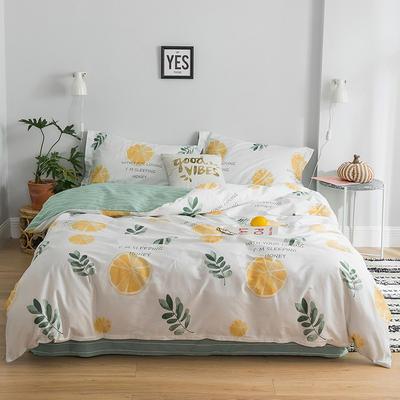 2019新款减龄卡通系列13372全棉四件套 1.2m床单款三件套 香橙满园