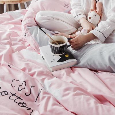 2019新款柔软舒适全棉活性四件套 1.2m床单款三件套 可可云朵