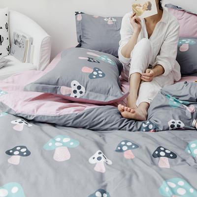 2019新款柔软舒适全棉活性四件套 1.2m床单款三件套 蘑菇君