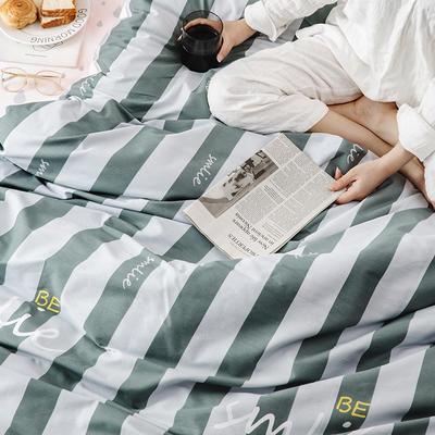 2019新款柔软舒适全棉活性四件套 1.2m床单款三件套 微笑