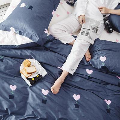 2019新款柔软舒适全棉活性四件套 1.2m床单款三件套 小爱心