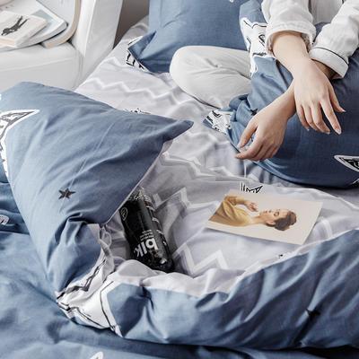 2019新款柔软舒适全棉活性四件套 1.2m床单款三件套 幸运星