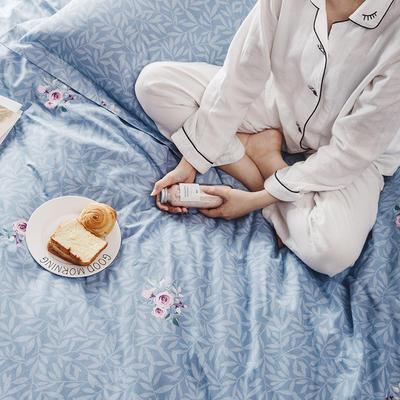 2019新款柔软舒适全棉活性四件套 1.2m床单款三件套 一束花