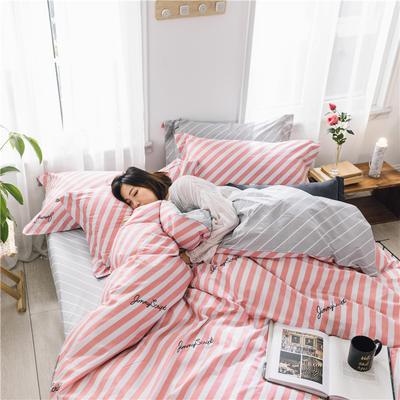 2019新款花卉系列13372全棉四件套 1.2m床单款三件套 芭莉