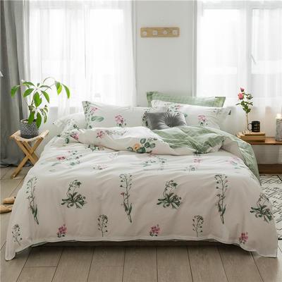 2019新款花卉系列13372全棉四件套 1.2m床单款三件套 梵花