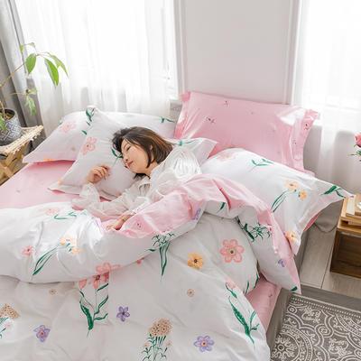 2019新款花卉系列13372全棉四件套 1.2m床单款三件套 寻畔花