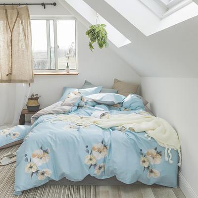 2019新款13372全棉活性四件套 1.2m床单款三件套 蔷薇