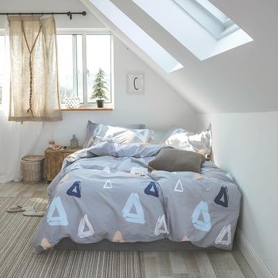 2019新款13372全棉活性四件套 1.2m床单款三件套 三角地带