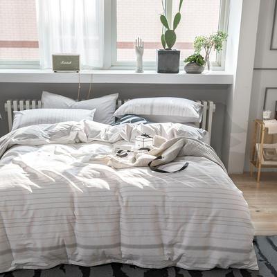 2019新款水洗棉四件套 1.2m(4英尺)床(三件套)) 丹妮拉