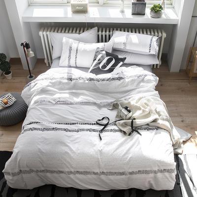 2019新款水洗棉四件套 1.2m(4英尺)床(三件套)) 克罗依