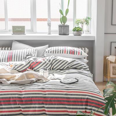 2019新款水洗棉四件套 1.2m(4英尺)床(三件套)) 米诺斯
