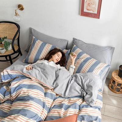 2019新款水洗棉四件套 1.2m(4英尺)床(三件套)) 密尔顿