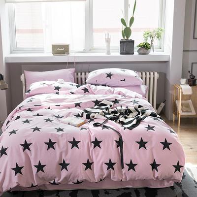 2019新款水洗棉四件套 1.2m(4英尺)床(三件套)) 星语心愿