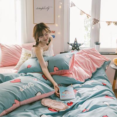 2019新款13372棉加绒水晶绒保暖四件套 床单款三件套1.2m(4英尺)床 美研棉加绒