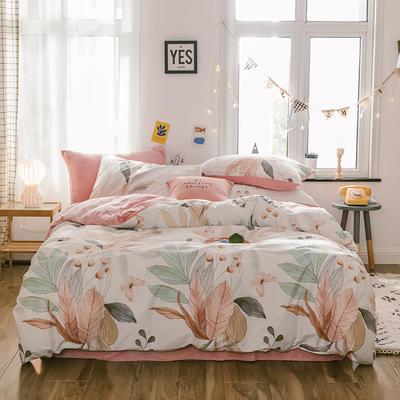2019新款13372棉加绒水晶绒保暖四件套 床单款三件套1.2m(4英尺)床 梦境棉加绒