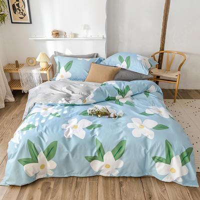 2020春夏新品-花卉风系列四件套 床单款三件套1.2m(4英尺)床 风韵-兰