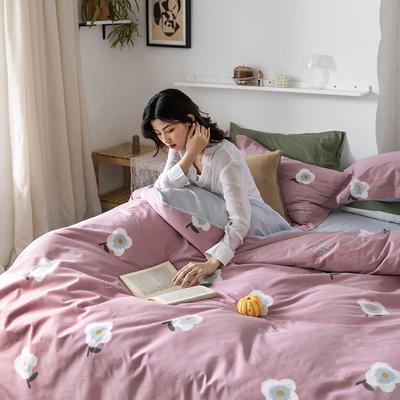 2020春夏新品-花卉风系列四件套 床单款三件套1.2m(4英尺)床 弗尼-粉