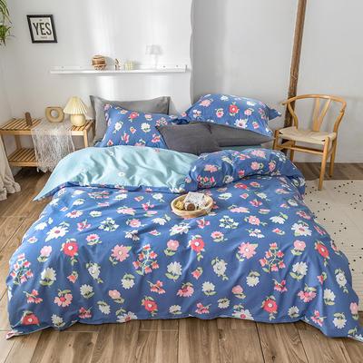 2020春夏新品-花卉风系列四件套 床单款三件套1.2m(4英尺)床 浮华