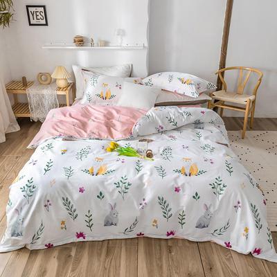 2020春夏新品-花卉风系列四件套 床单款三件套1.2m(4英尺)床 复苏